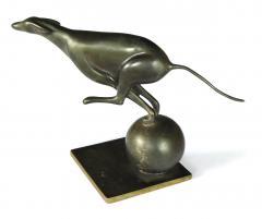 French Art Deco Bronze Greyhound Sculpture - 1828731