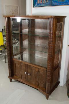 French Art Deco Cerused Wood Cabinet - 595946