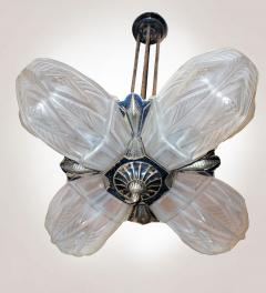 French Art Deco Chandelier by Francis Hubens  - 1943472