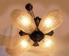 French Art Deco Chandelier by Francis Hubens  - 1943473