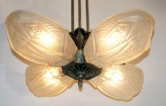 French Art Deco Chandelier by Francis Hubens  - 1943475