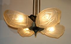French Art Deco Chandelier by Francis Hubens  - 1943476
