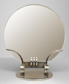 French Art Deco Chrome Plated Dressing Table Mirror - 471006