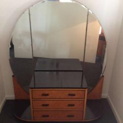 French Art Deco Elegant Vanity with Adjustable Mirrored Sides - 91919