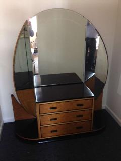 French Art Deco Elegant Vanity with Adjustable Mirrored Sides - 91922
