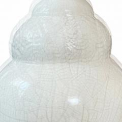 French Art Deco Table Lamp with Ivory Craquel Glaze - 2124165