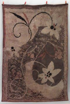 French Art Deco Wool Rug Carpet - 514827