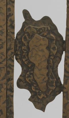 French Art Deco Wrought Iron Cheval Mirror - 470921
