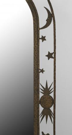 French Art Deco Wrought Iron Cheval Mirror - 470924