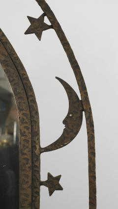 French Art Deco Wrought Iron Cheval Mirror - 470925