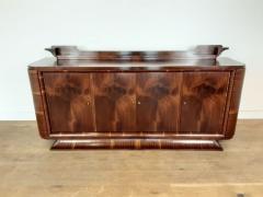 French Art deco flame mahogany sideboard - 1760912