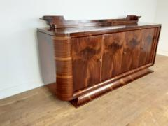 French Art deco flame mahogany sideboard - 1760913