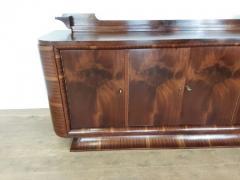 French Art deco flame mahogany sideboard - 1760914