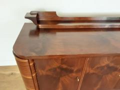 French Art deco flame mahogany sideboard - 1760915