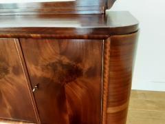 French Art deco flame mahogany sideboard - 1760916