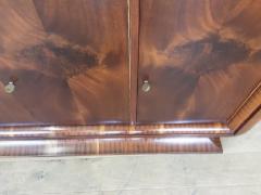 French Art deco flame mahogany sideboard - 1760917
