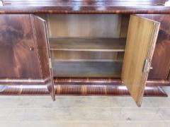 French Art deco flame mahogany sideboard - 1760918