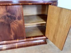 French Art deco flame mahogany sideboard - 1760919