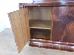 French Art deco flame mahogany sideboard - 1760922
