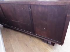 French Art deco flame mahogany sideboard - 1760926
