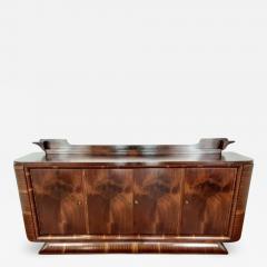 French Art deco flame mahogany sideboard - 1762038