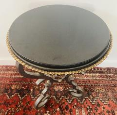 French Black Gueridon Table with Cast Iron Scroll Legs - 1638847