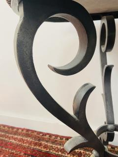 French Black Gueridon Table with Cast Iron Scroll Legs - 1638852