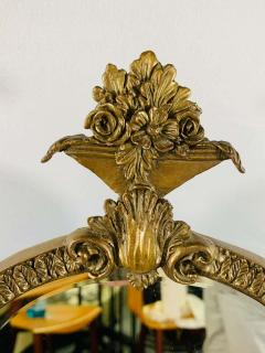 French Bonze Vanity Mirror with Cherubs candle holders - 1712108