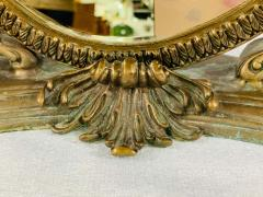 French Bonze Vanity Mirror with Cherubs candle holders - 1712112
