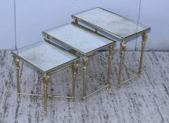French Bronze And Brass Nesting Tables - 767357
