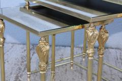 French Bronze And Brass Nesting Tables - 767360