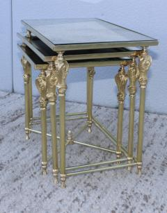 French Bronze And Brass Nesting Tables - 767361