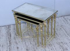 French Bronze And Brass Nesting Tables - 767362
