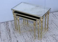 French Bronze And Brass Nesting Tables - 767363