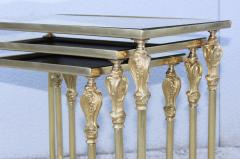 French Bronze And Brass Nesting Tables - 767364