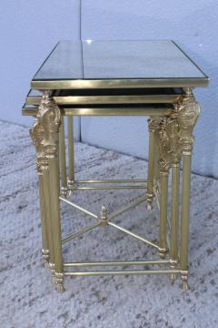 French Bronze And Brass Nesting Tables - 767365