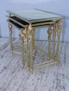 French Bronze And Brass Nesting Tables - 767366