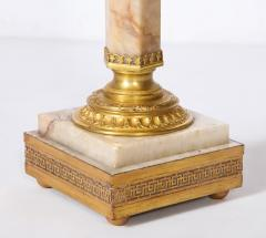 French Bronze Mounted Marble Column Lamp - 1936316