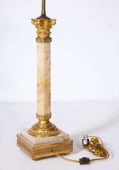 French Bronze Mounted Marble Column Lamp - 1936317