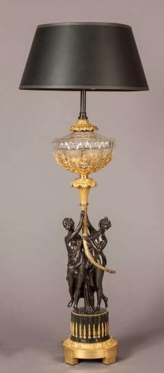 French Bronze and Gilt Table Lamp in the Empire Style - 627832