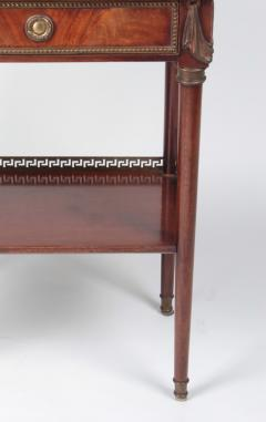 French Coffee table in mahogany and white Carrara marble and bronze 19th century - 1506567