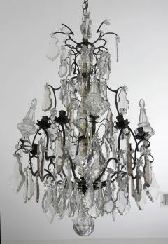 French Crystal and Bronze Chandelier - 96171