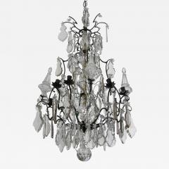 French Crystal and Bronze Chandelier - 97844