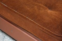 French Deco Leather and Mohair Daybed - 381370