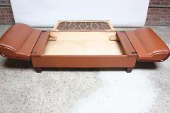 French Deco Leather and Mohair Daybed - 381372