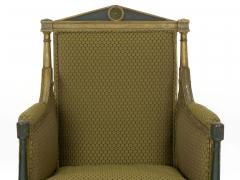 French Directoire Painted Antique Bergere Arm Chair 19th Century - 1015155