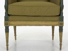 French Directoire Painted Antique Bergere Arm Chair 19th Century - 1015157