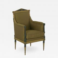 French Directoire Painted Antique Bergere Arm Chair 19th Century - 1015340