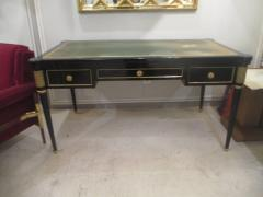 French Directoire Style Ebonized Bureau Plat Desk - 484436