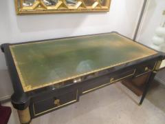 French Directoire Style Ebonized Bureau Plat Desk - 484438